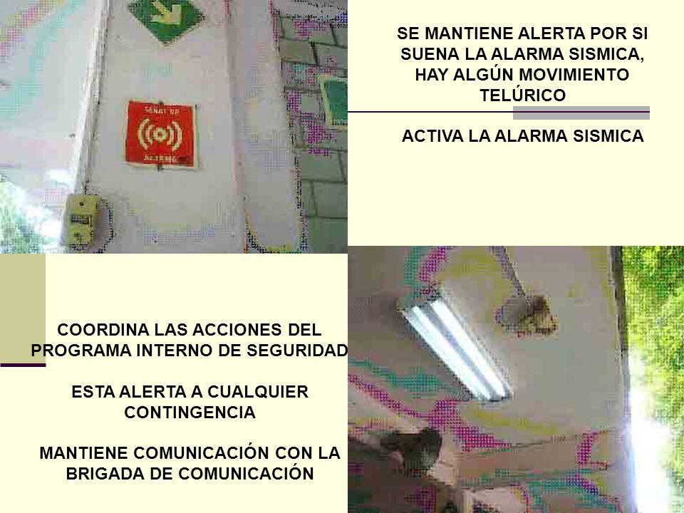 MA. ISABEL LOBATON. DIRECTORA DEL CAM 94 COORDINADORA DEL COMITÉ DE SEGURIDAD ESCOLAR