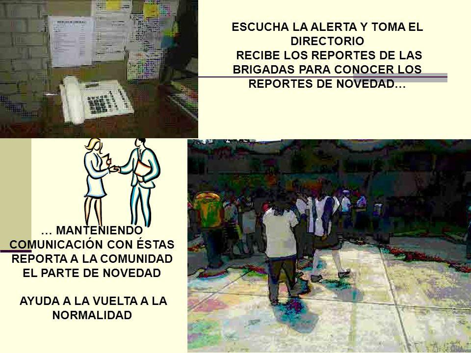LUIS ALFARO MAESTRO DE MULTIMEDIA RESPONSABLE DE LA BRIGADA DE COMUNICACIÓN ELABORA Y ACTUALIZA EL DIRECTORIO DE INSTITUCIONES DE SERVICIO DE EMERGENC