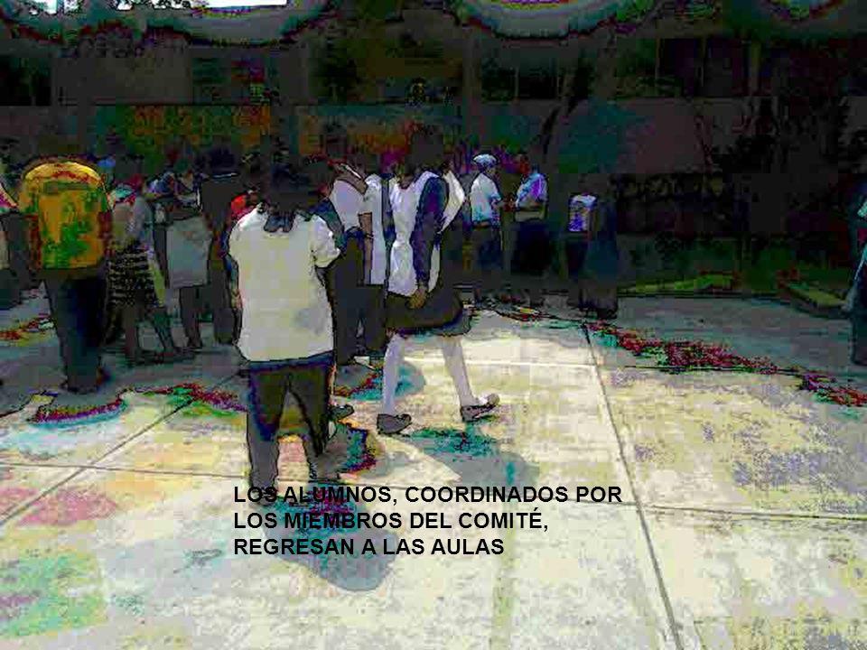 PERMANECEN EN LA ZONA DE SEGURIDAD, ALERTAS A LAS INDICACIONES DE LOS MIENBROS DEL COMITÉ PUNTO DE REUNIÓN