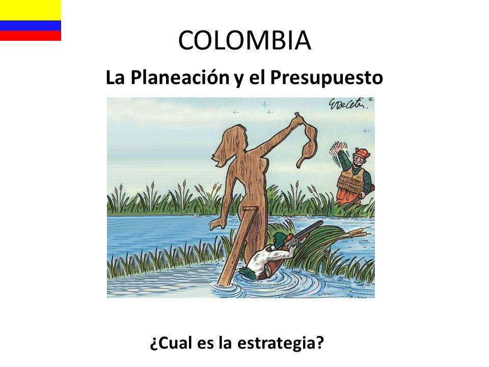 COLOMBIA La Planeación y el Presupuesto ¿Cual es la estrategia?