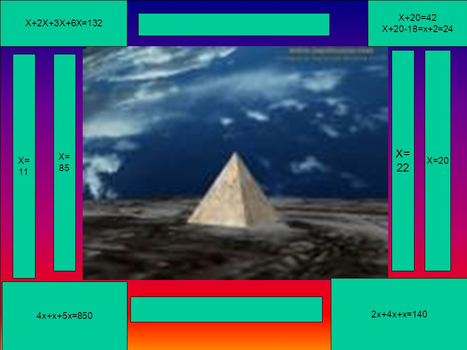 B X +30 =54 X=5 X=210 X=221 3X +5 =20 X=24 3x + 300 = 9 6 3 2x + 6 0 = 1 8 0 Diapositiva 16 Diapositiva 16 +