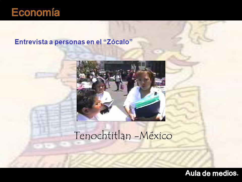 Entrevista a personas en el Zócalo Tenochtitlan -México