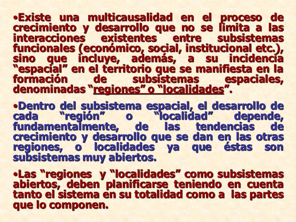 Existe una multicausalidad en el proceso de crecimiento y desarrollo que no se limita a las interacciones existentes entre subsistemas funcionales (ec