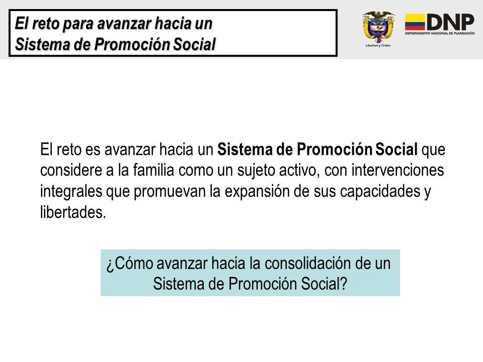 El reto para avanzar hacia un Sistema de Promoción Social El reto es avanzar hacia un Sistema de Promoción Social que considere a la familia como un s