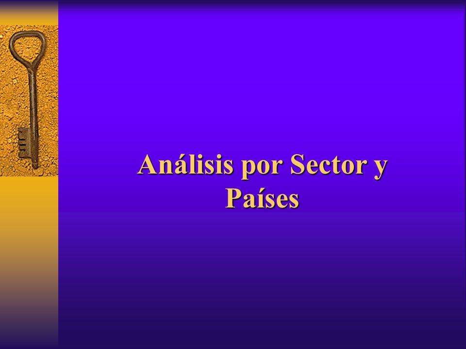 Análisis por Sector y Países