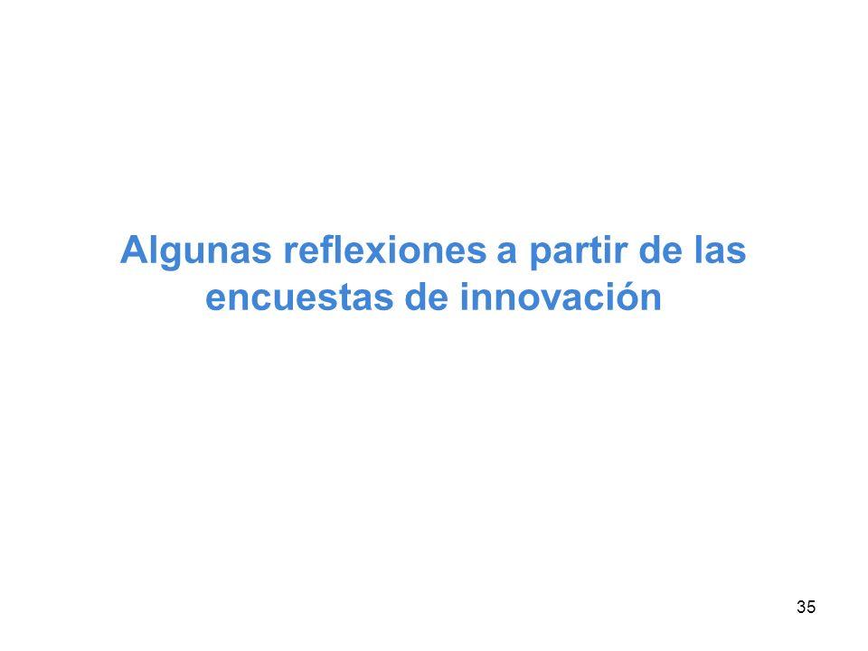 35 Algunas reflexiones a partir de las encuestas de innovación