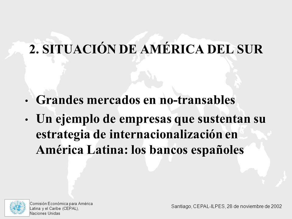 Comisión Económica para América Latina y el Caribe (CEPAL), Naciones Unidas Santiago, CEPAL-ILPES, 28 de noviembre de 2002 2.