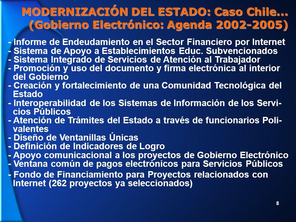 9 MODERNIZACIÓN DEL ESTADO: Caso Chile...