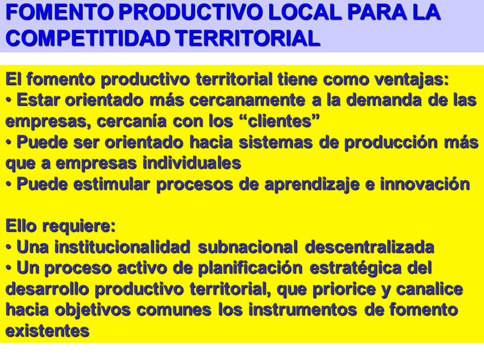FACTORES DE ÉXITO EN DESARROLLO DE PYMES: Estar integradas en un sistema productivo y social dinámico a nivel local: para alcanzar economías de escala