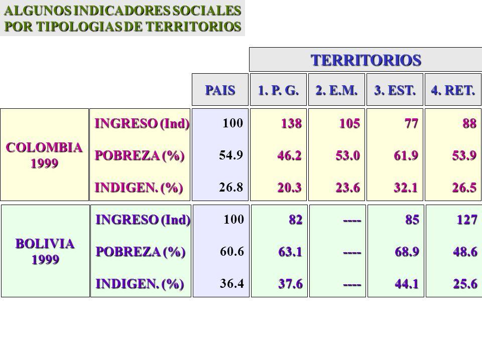 INGRESO (Ind) POBREZA (%) INDIGEN. (%) 12828.38.07044.917.36156.622.513724.85.7 100 37.5 12.9 BRASIL 1999 INGRESO (Ind) POBREZA (%) INDIGEN. (%) 11916