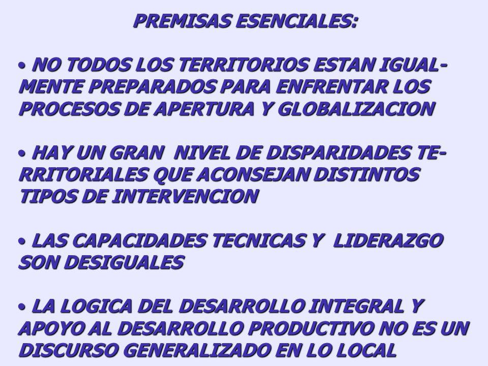 (IV) LA CONSTRUCCION DE RESPUESTAS PARA EL DESARROLLO LOCAL