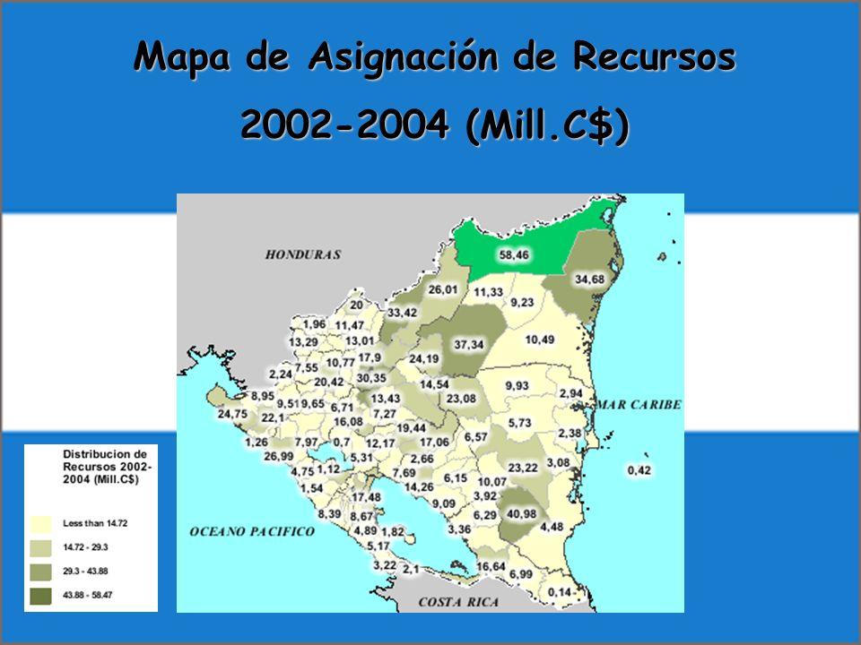 Mapa de Asignación de Recursos 2002-2004 (Mill.C$)