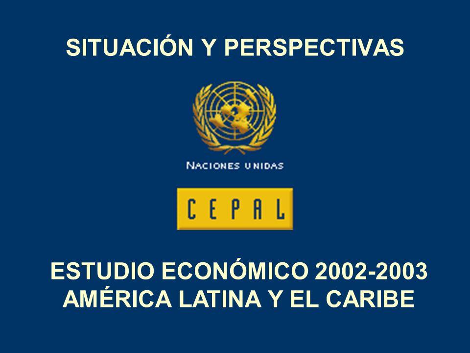 SITUACIÓN Y PERSPECTIVAS ESTUDIO ECONÓMICO 2002-2003 AMÉRICA LATINA Y EL CARIBE