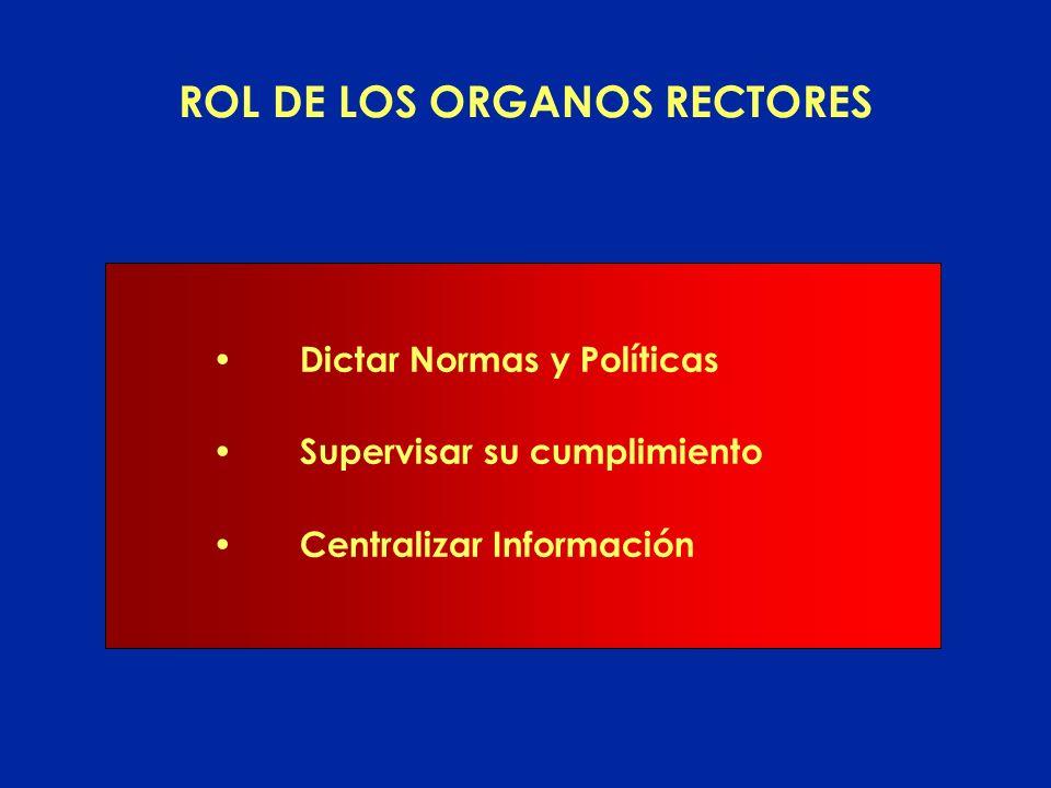 ROL DE LOS SERVICIOS ADMINISTRATIVOS FINANCIEROS Cumplimiento de las políticas, normas y procesos de los Organismos Rectores Instrumentación de las no