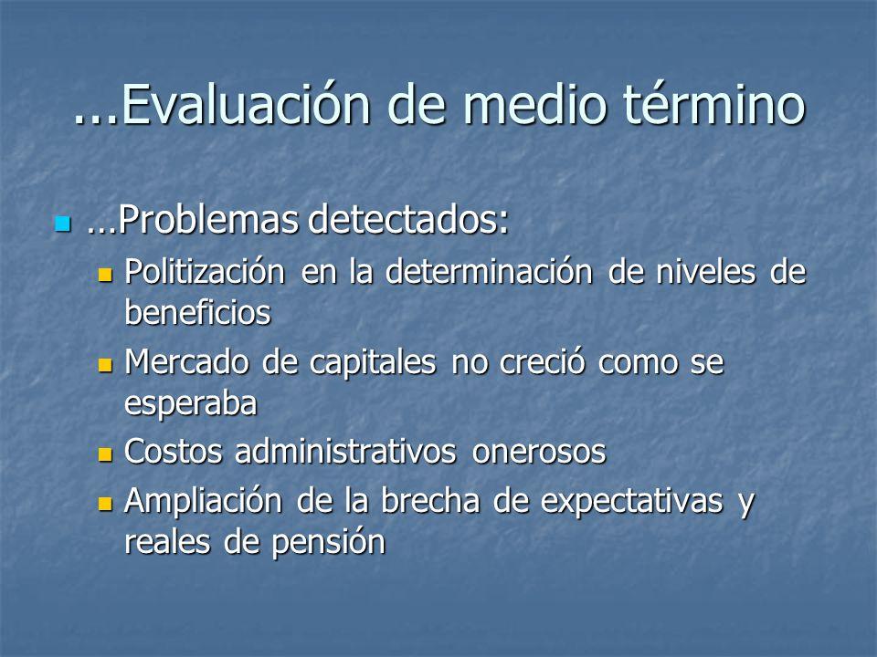 ...Evaluación de medio término …Problemas detectados: …Problemas detectados: Politización en la determinación de niveles de beneficios Politización en