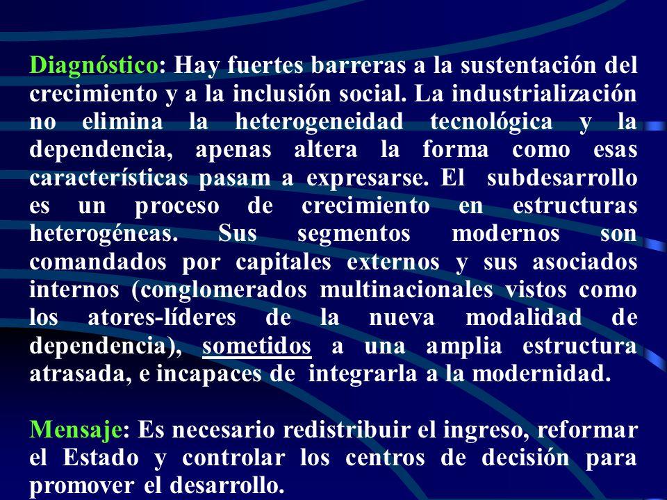 Años 60: reformas Hechos estilizados, finales de los 50/inizios de los 60: Restricción externa/inflación; Urbanización/ creciente miseria urbana ; Rev
