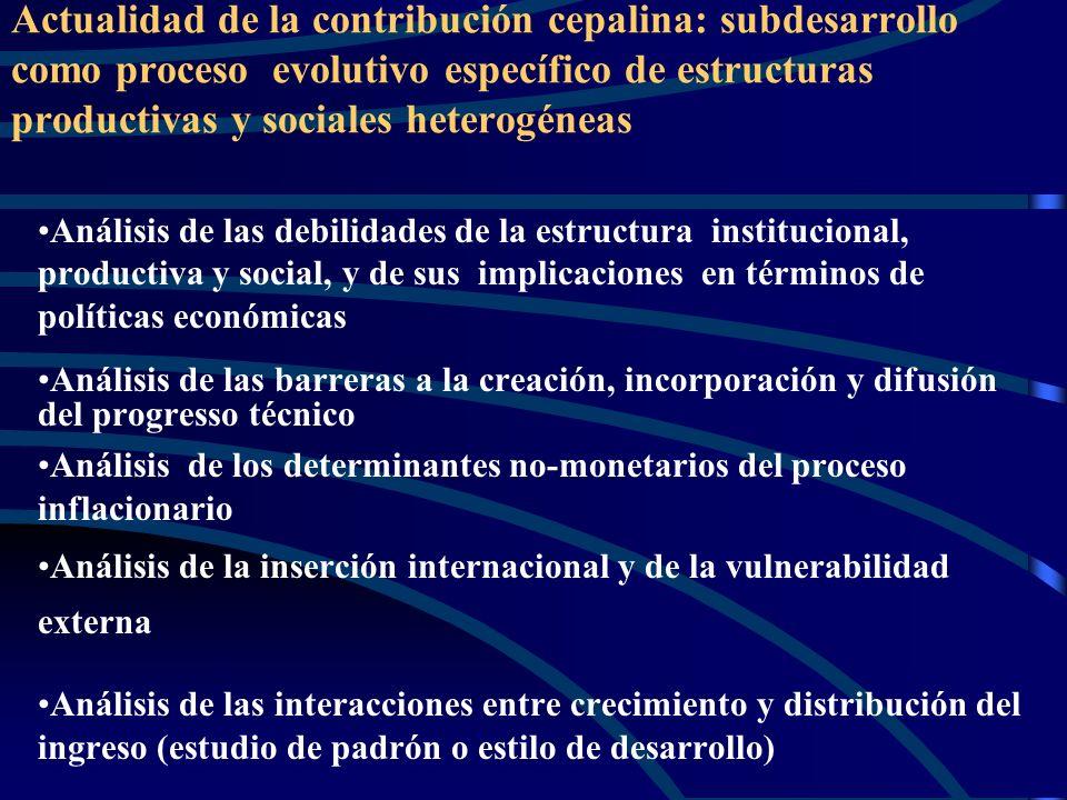 Textos representativos del período, no incluídos en la colectánea Serie Panorama social de América Latina Población, equidad y transformación producti