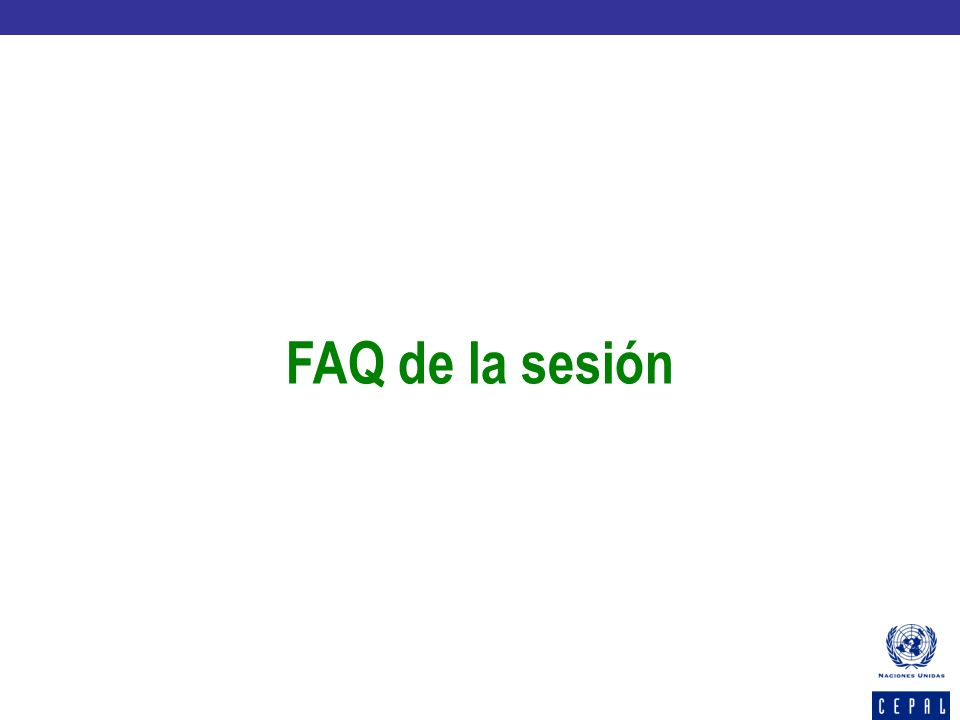 FAQ de la sesión