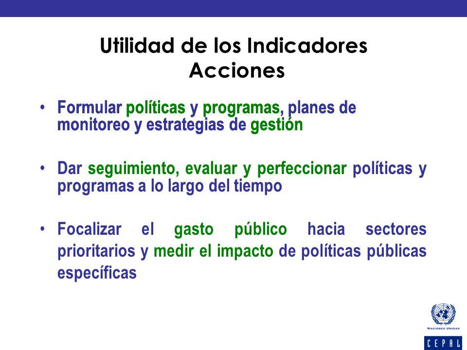 Formular políticas y programas, planes de monitoreo y estrategias de gestión Dar seguimiento, evaluar y perfeccionar políticas y programas a lo largo