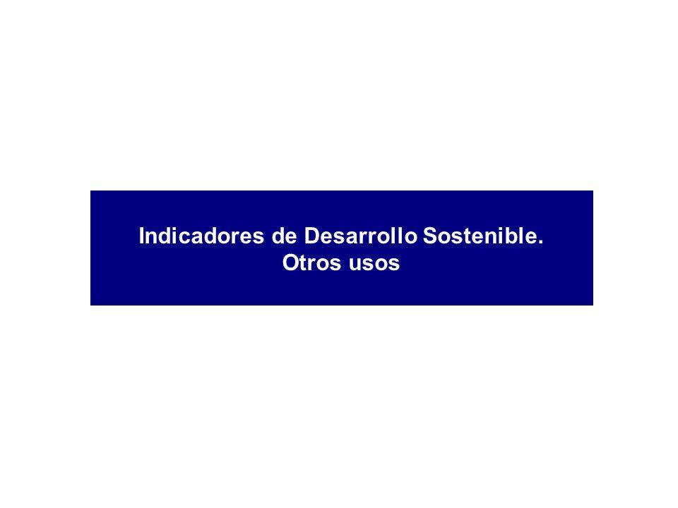 Indicadores de Desarrollo Sostenible. Otros usos