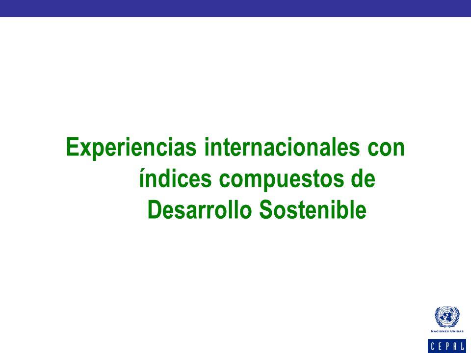 Experiencias internacionales con índices compuestos de Desarrollo Sostenible