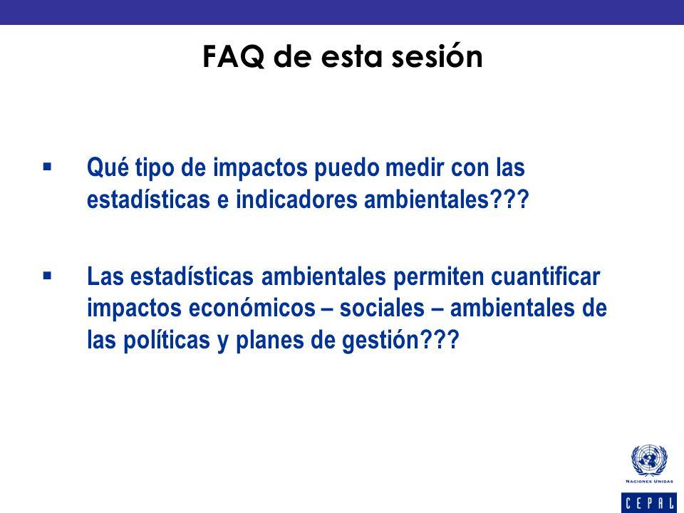 Qué tipo de impactos puedo medir con las estadísticas e indicadores ambientales??? Las estadísticas ambientales permiten cuantificar impactos económic