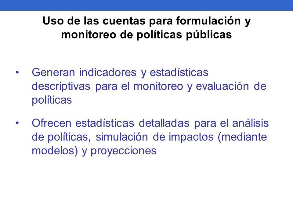 Generan indicadores y estadísticas descriptivas para el monitoreo y evaluación de políticas Ofrecen estadísticas detalladas para el análisis de políti