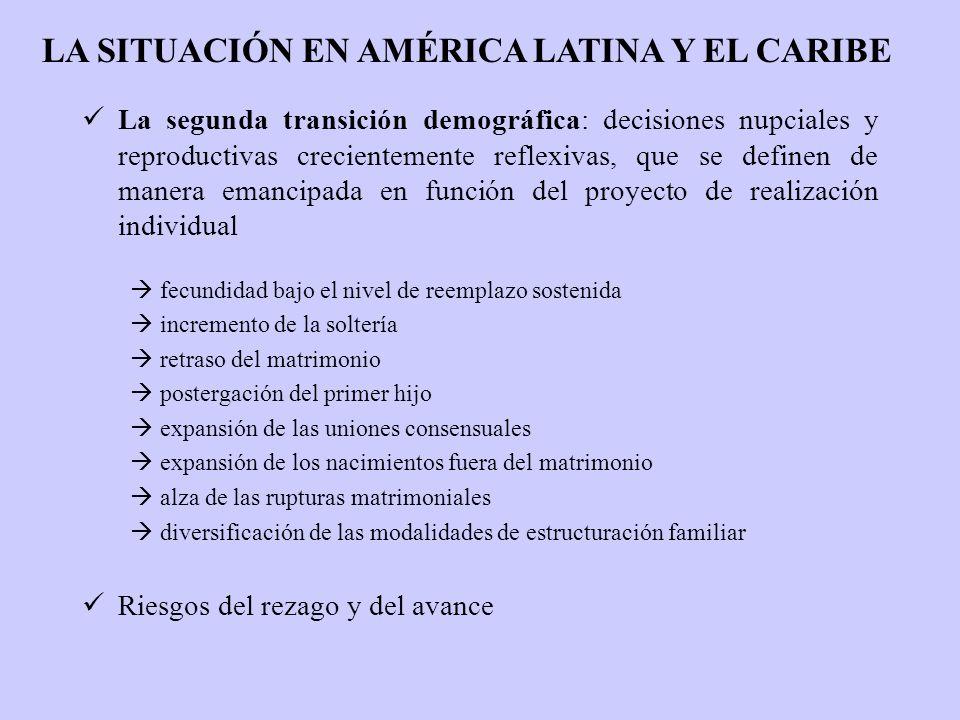 La segunda transición demográfica: decisiones nupciales y reproductivas crecientemente reflexivas, que se definen de manera emancipada en función del