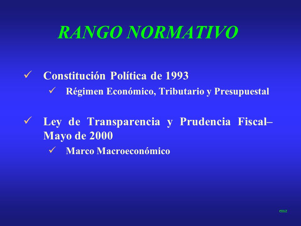 PERU Rango Normativo Antecedentes Modelo Actual Criticas emz