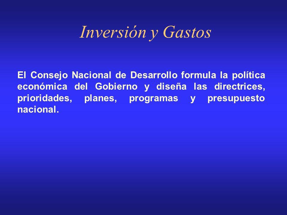 El prepuesto involucra todos los niveles de Gobierno: - Gobierno Central (Presidencia de la República y catorce (14 ministerios y secretarías) - Organ