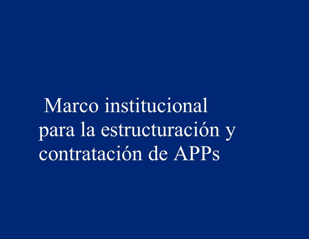 Marco institucional para la estructuración y contratación de APPs