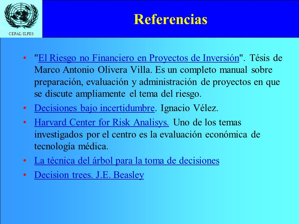 CEPAL/ILPES Referencias