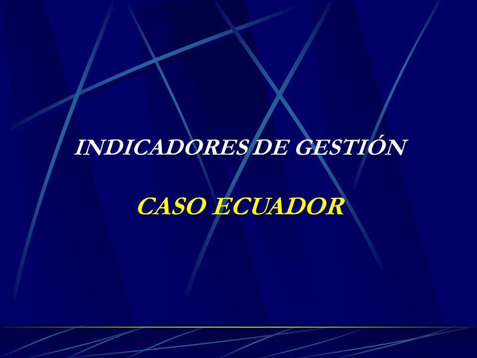 INDICADORES DE GESTIÓN CASO ECUADOR