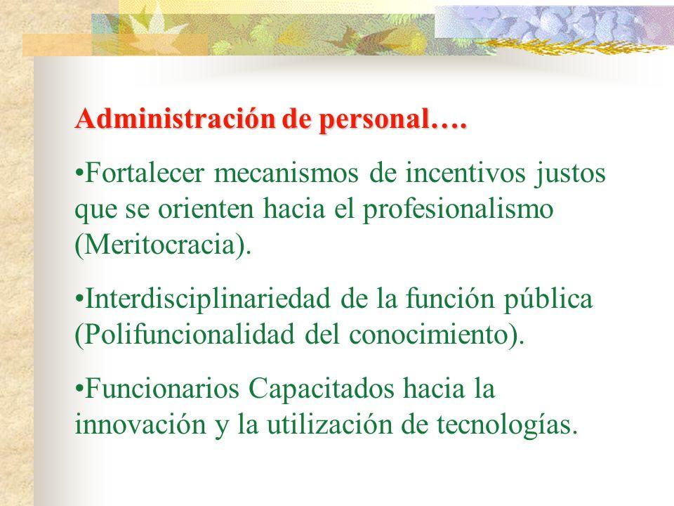Administración de personal….
