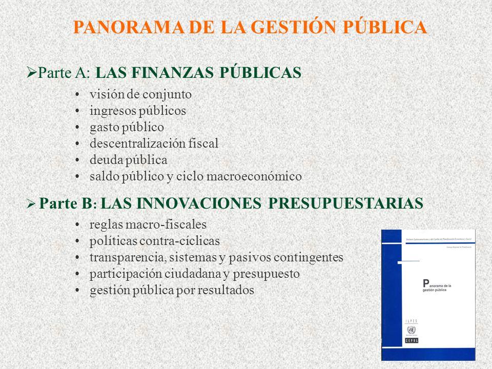 1 Un panorama de las finanzas públicas Ricardo Martner Area de Políticas Presupuestarias y Gestión Pública ILPES, CEPAL, Naciones Unidas II Curso-Semi