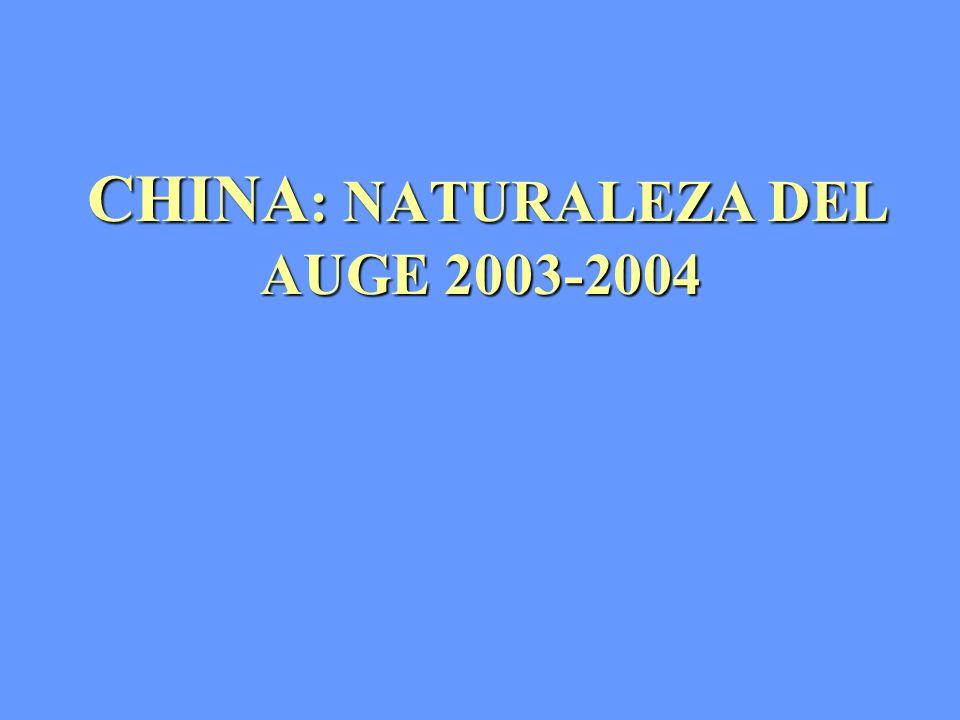 CHINA : NATURALEZA DEL AUGE 2003-2004 CHINA : NATURALEZA DEL AUGE 2003-2004