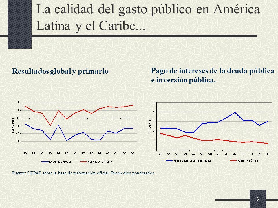 3 La calidad del gasto público en América Latina y el Caribe...