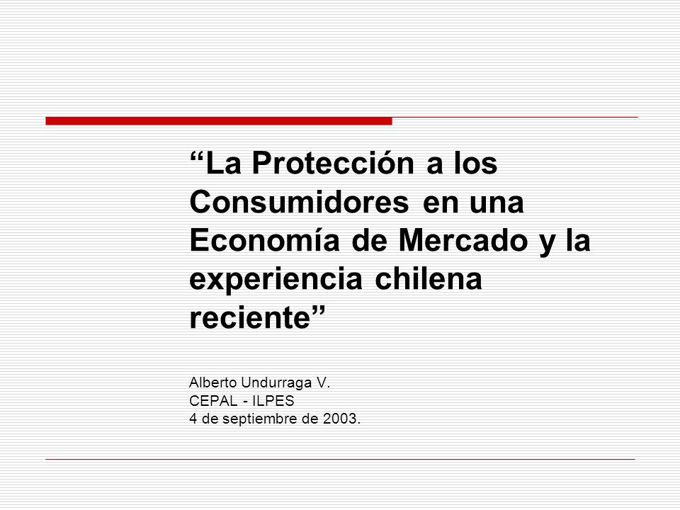 Protección al Consumidor y fallas de mercado 3.