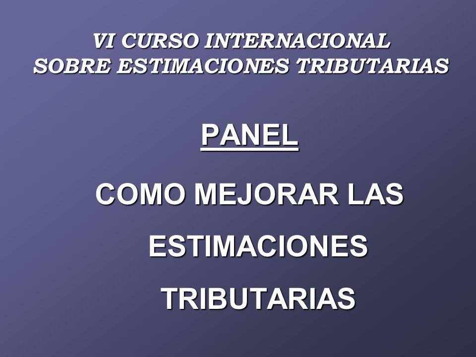 ILPES - ASAP - ASIP VI CURSO INTERNACIONAL SOBRE ESTIMACIONES TRIBUTARIAS BUENOS AIRES 22 AL 26 DE SEPTIEMBRE DE 2008 ILPES - ASAP - ASIP VI CURSO INTERNACIONAL SOBRE ESTIMACIONES TRIBUTARIAS BUENOS AIRES 22 AL 26 DE SEPTIEMBRE DE 2008