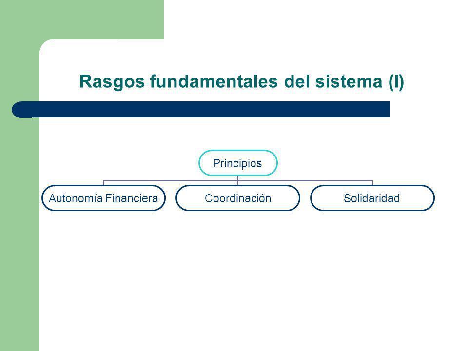 Rasgos fundamentales del sistema (II) Características principales Dicotomía Común-foral Falta de estabilidad 1980-1986 1987-1991 1992-1996 1997-2001 2002…….