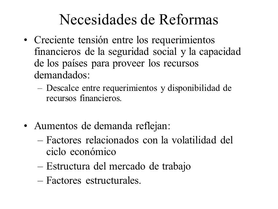 Necesidades de Reformas Problemas de Equidad, Eficiencia y Gestión : –Esfuerzos realizados por los países no necesariamente se condicen con los resultados obtenidos.