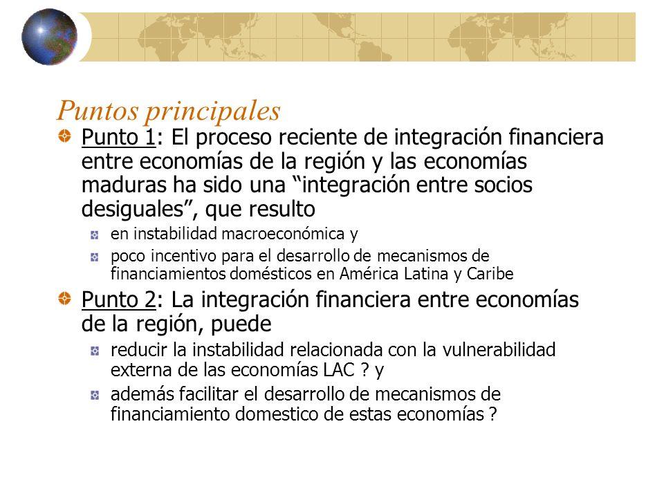 Punto 1: Integración financiera entre socios desiguales