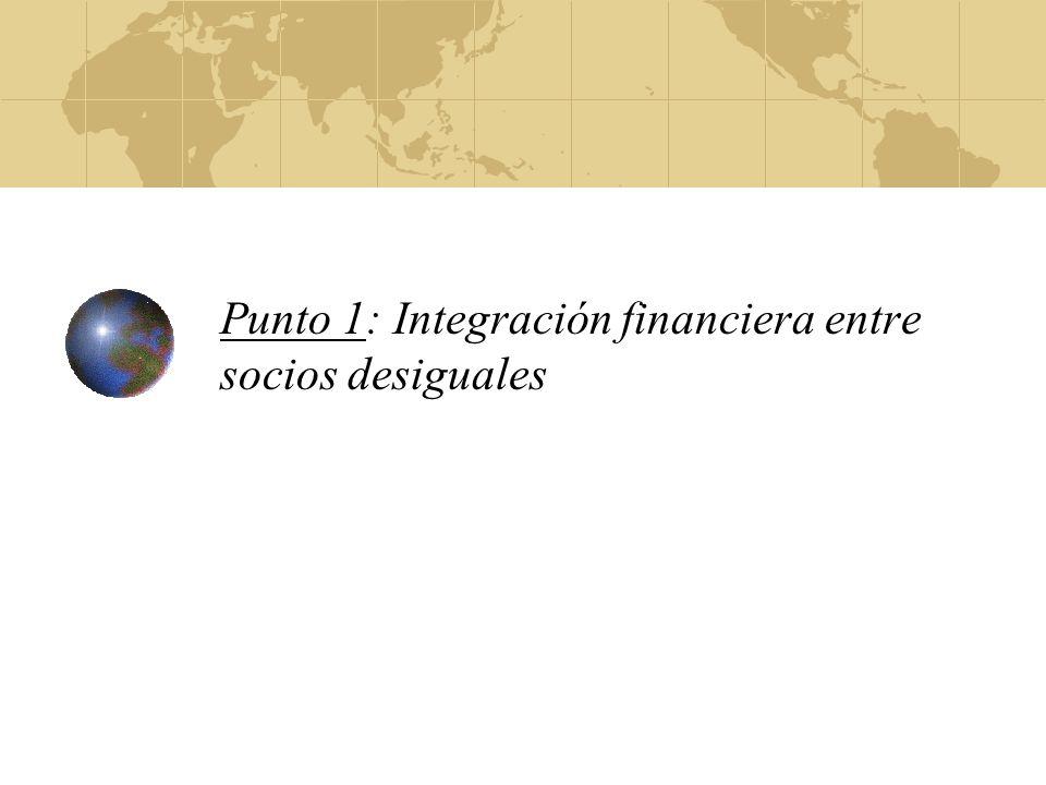 Que es necesario para mayor integración financiera Regulación y supervisión Reglas idénticas Instituciones de supervisión Coordinación macroeconómico objetivando estabilidad de precios, crecimiento y estabilidad financiera Competitividad internacional