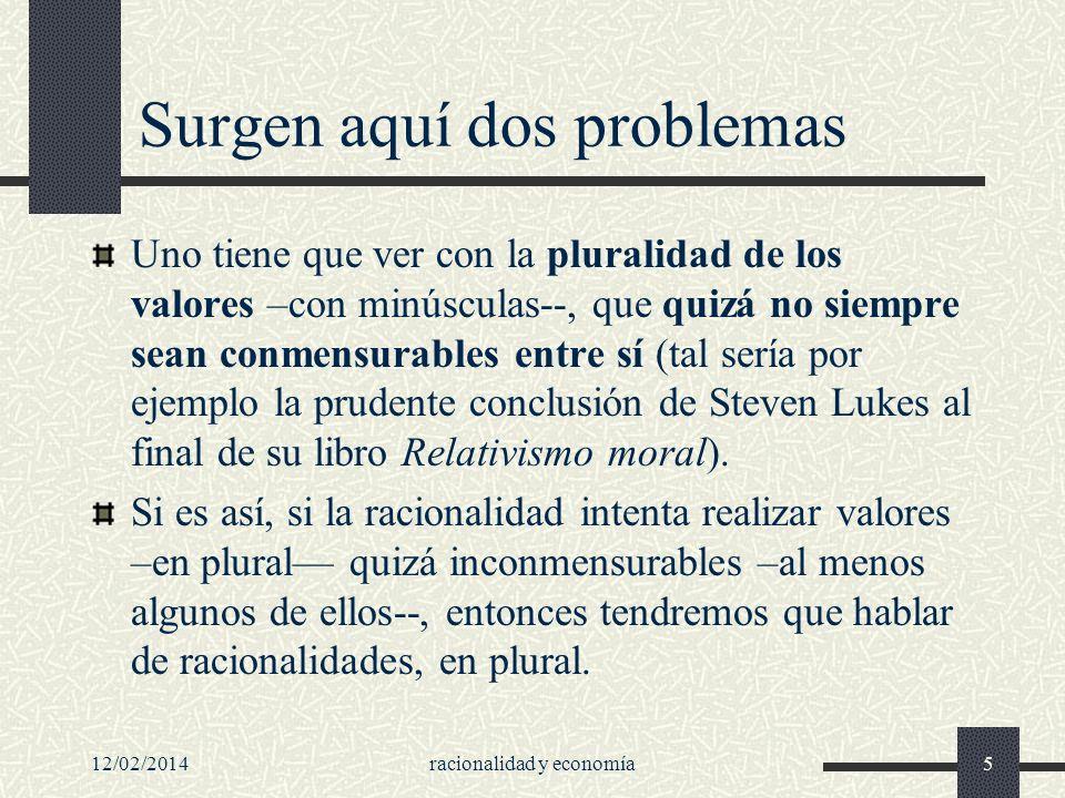12/02/2014racionalidad y economía36 Antecedentes de este concepto de razón: Hobbes...