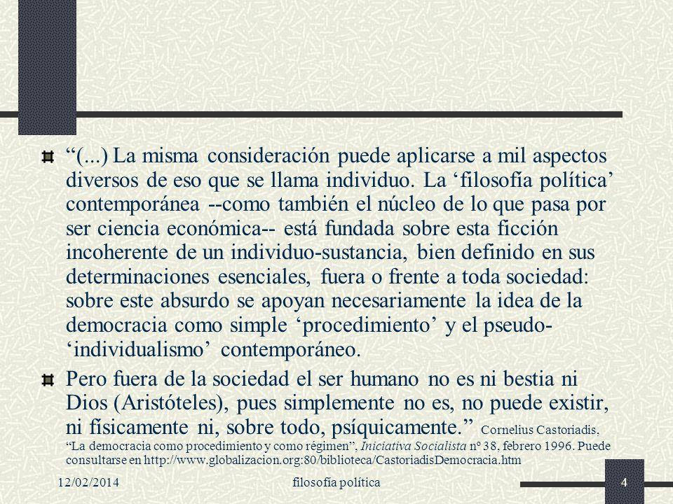 12/02/2014filosofía política25 La política ¿lucha por la verdad.