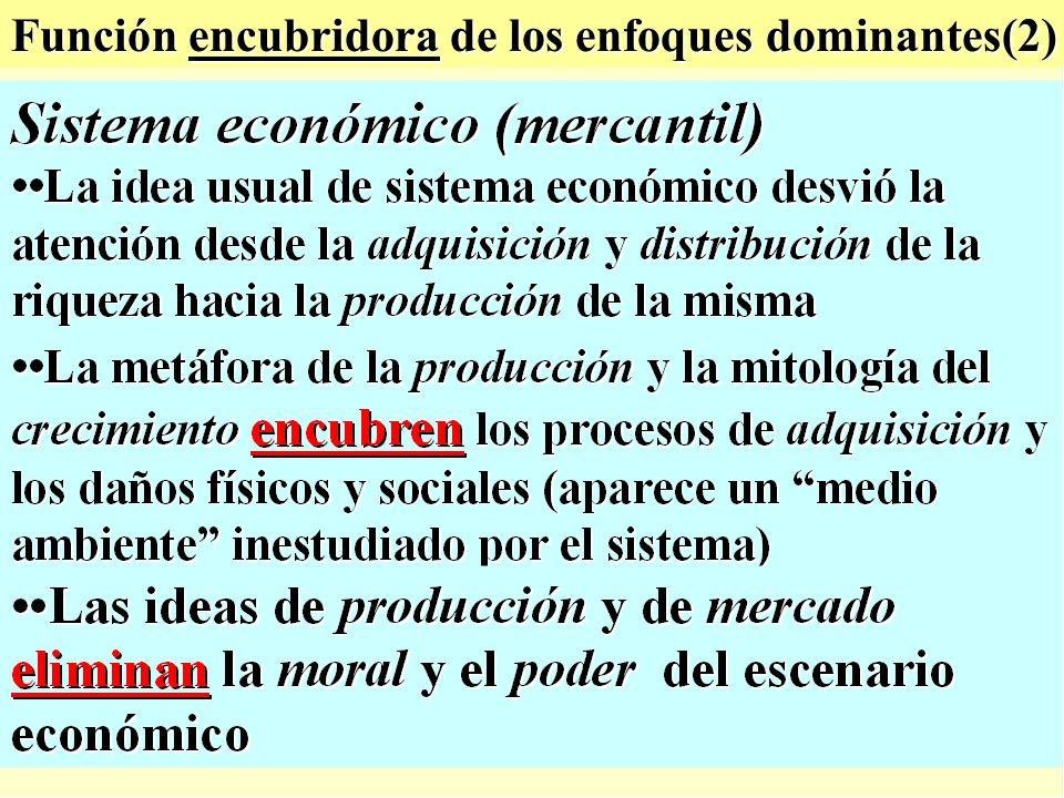 Función encubridora de los enfoques dominantes(2)