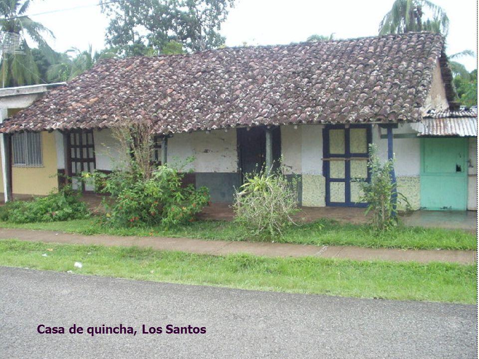 Casa de quincha, Los Santos