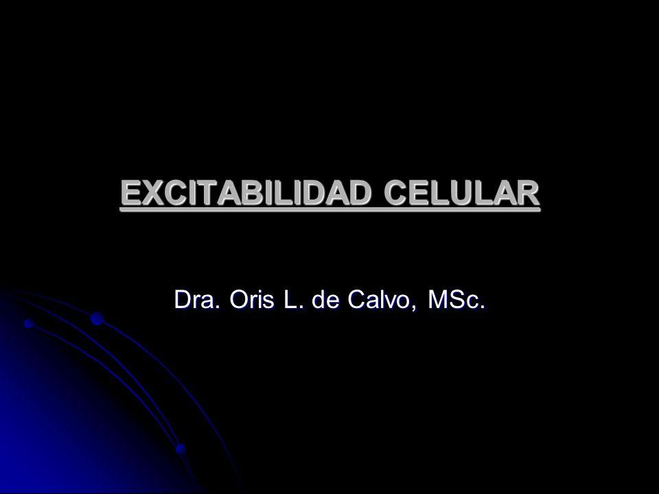 EXCITABILIDAD CELULAR Dra. Oris L. de Calvo, MSc.