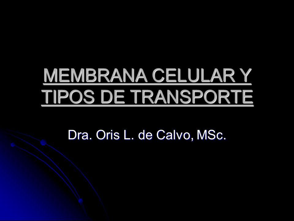 MEMBRANA CELULAR Y TIPOS DE TRANSPORTE Dra. Oris L. de Calvo, MSc.