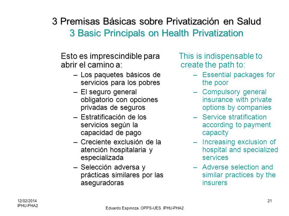 12/02/2014IPHU-PHA221 Esto es imprescindible para abrir el camino a: –Los paquetes básicos de servicios para los pobres –El seguro general obligatorio